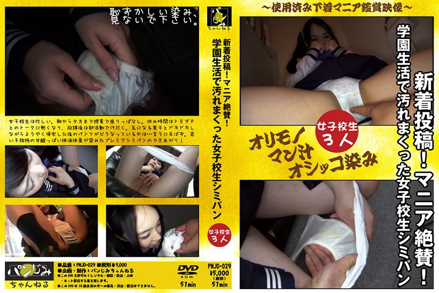 【新着投稿!マニア絶賛!】学園生活で汚れまくった女子校生シミパン パッケージ