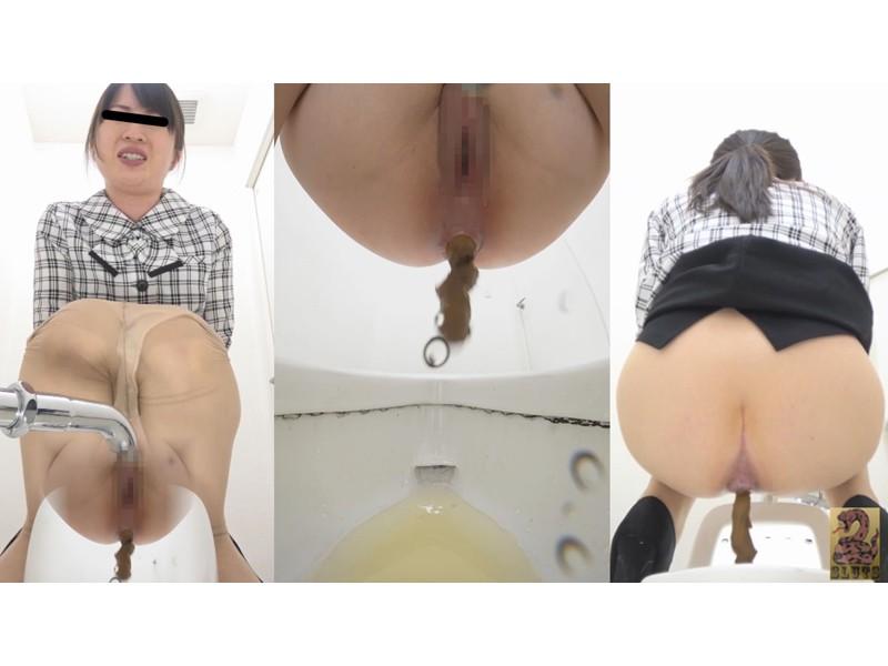 Front&Backダブルフルショット 制服美女の超放屁大便 サンプル画像