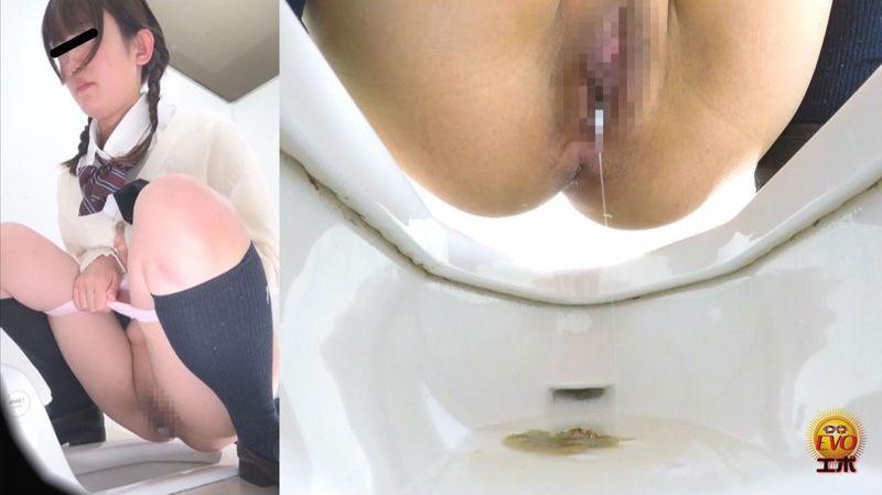 トイレ盗撮 女の子のうんことまん汁 数カ月にわたり盗み撮ったラッキーな排泄姿